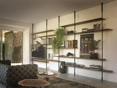 estantes colgantes muebles tv integrados con biblioteca 75 ideas modernas