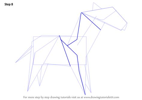 Drawing Origami - learn how to draw an origami zebra everyday objects step