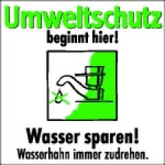 wasser sparen wasserhahn kennzeichnung de der schilder shop wasser