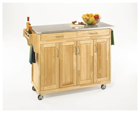 home styles create a cart natural kitchen cart with quartz home styles create a cart 49 inch stainless top kitchen