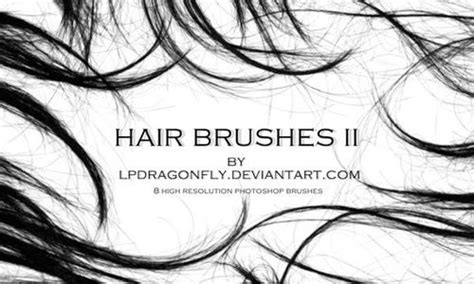 download hair brushes for gimp a collection of free photoshop hair brushes brushes