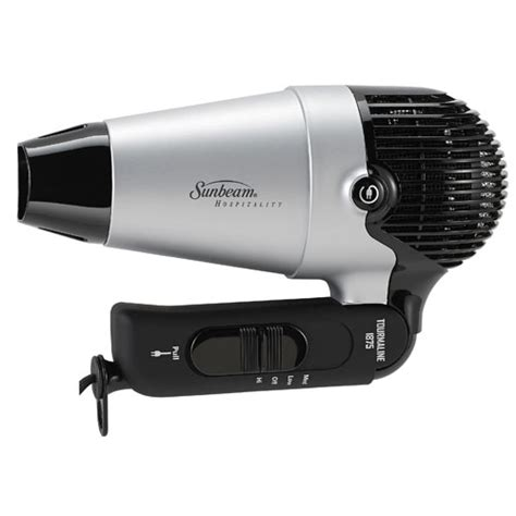 Mini Hair Dryer With Retractable Cord by Sunbeam 174 Hd3004 005 00c 1875 Watts Compact Folding