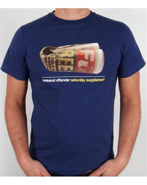 supplement t shirts uk weekend offender saturday supplement t shirt midnight blue