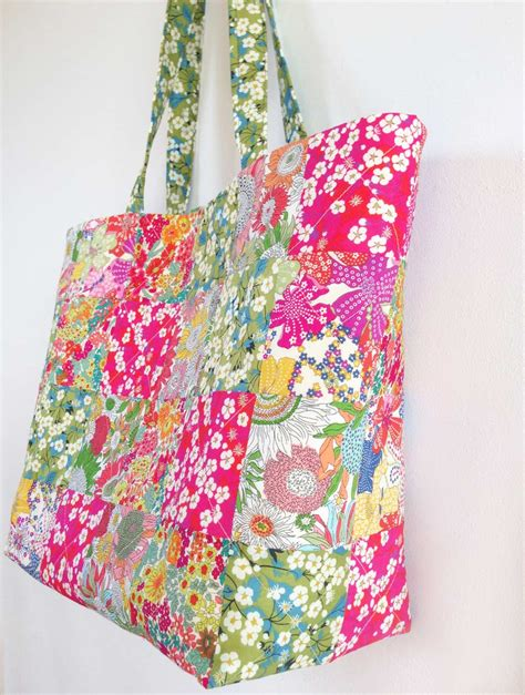 Free Patchwork Patterns For Bags - liberty patchwork katherine bag pattern instant