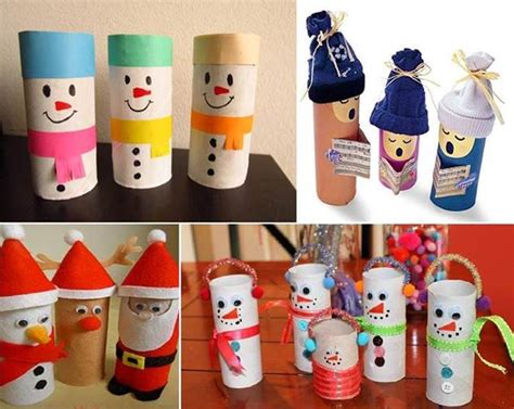 Toilet Paper Roll Craft Ideas - creative ideas diy yarn winter hat ornaments