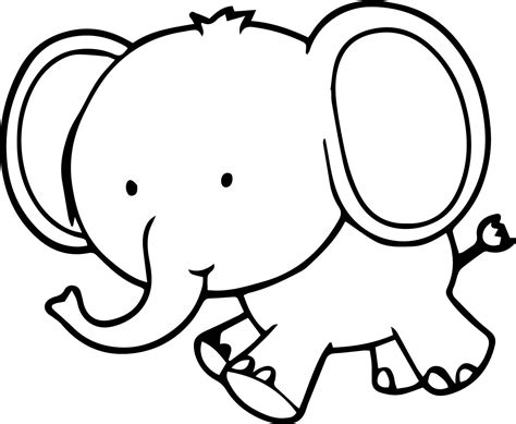 tiny color small coloring pictures very cute small elephant coloring page wecoloringpage coloring page