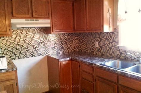 Glass Kitchen Tiles For Backsplash by Minimalist Kitchen Style Ideas With Mosaic Glass Peel