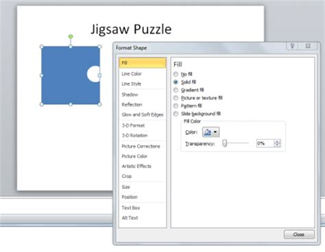Create A Jigsaw Puzzle Piece In Powerpoint Using Shapes How To Create Jigsaw Puzzle In Powerpoint