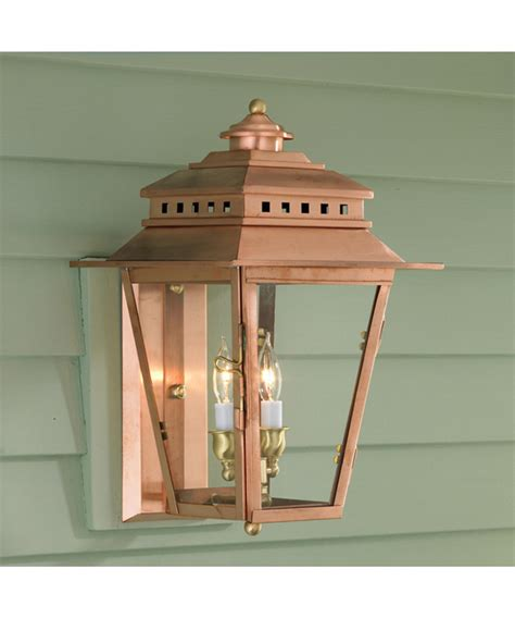 2 light wall l saxby odyssey 35w twin copper ip44 outdoor up down wall