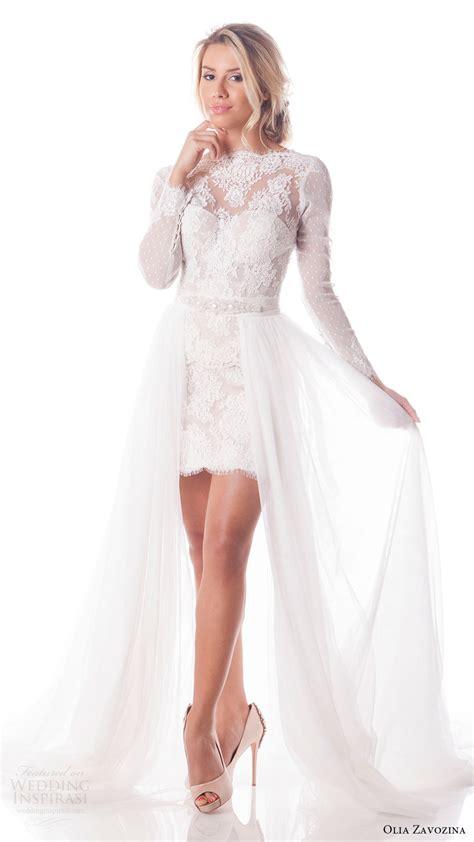 mini skirt wedding dresses olia zavozina spring 2017 wedding dresses wedding inspirasi