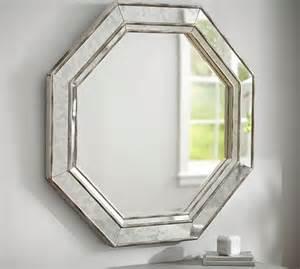 octagon bathroom mirror octagon wall mirror pottery barn