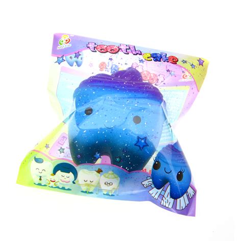 Squishy Jumbo Galaxy Tooth Cake Licenses By Sanqi Elan galaxy tooth jumbo scented rising squishy 163 6 99 buy at something kawaii uk