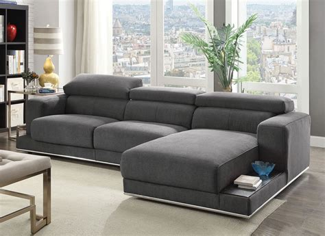 modern fabric sectional maura modern fabric sectional sofa