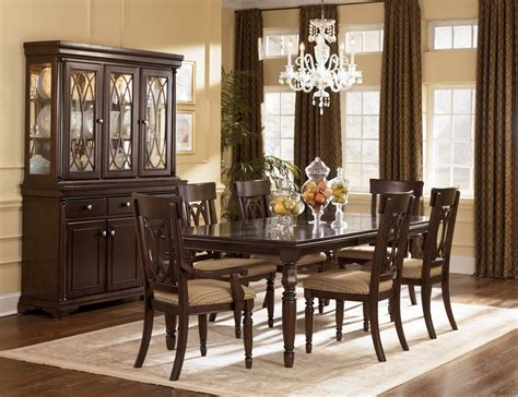 Transitional formal dining room with inexpensive deep cappuccino finish dinette table set 4