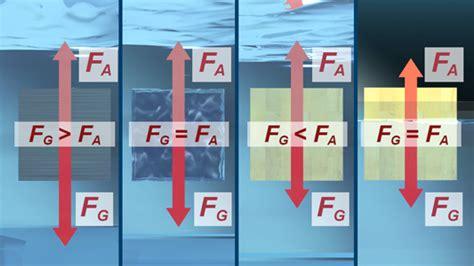 schwimmen sinken schweben phys dvd010 hydrostatik i schwimmen schweben steigen