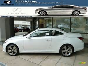 2011 starfire white pearl lexus is 250c convertible