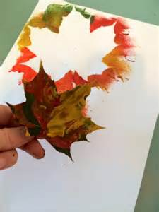 Crafts With Leaves For Kids - craft ideas for kids autumn leaf painting trace hands amp leaves and paint over preschool