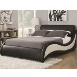 niguel modern cal king upholstered bed 300170kw coaster