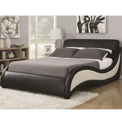 modern queen beds niguel modern queen upholstered platform bed from coaster