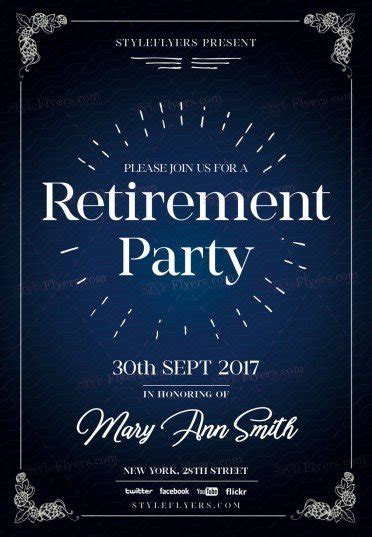 retirement flyer template retirement psd flyer template 20891 styleflyers