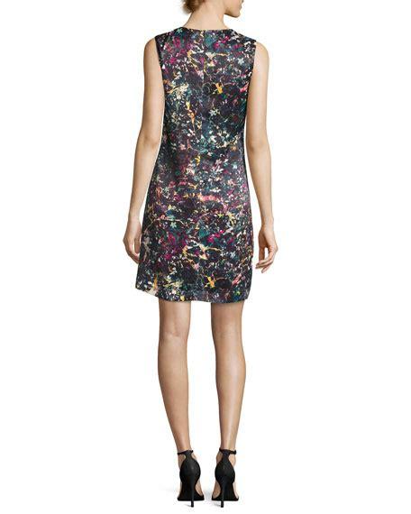 abstract pattern sleeveless dress m missoni sleeveless abstract floral print sheath dress
