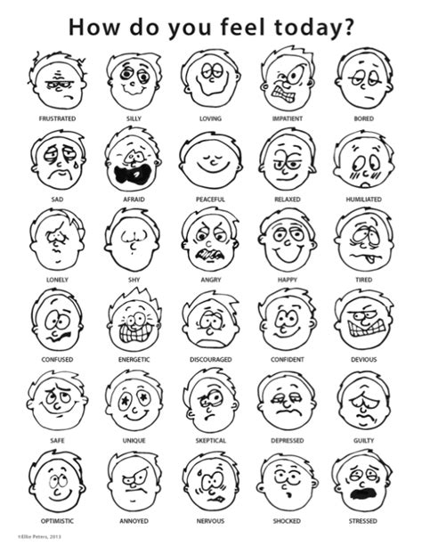 color feelings chart feelings chart by ellie peters via behance feelings