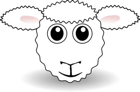 printable sheep face mask template sheep face clip art at clker com vector clip art online