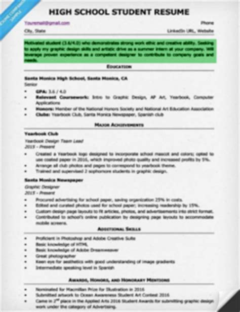 high school objective resume resume objective exles for students and professionals rc