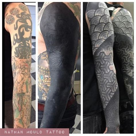 solid black tattoo sleeve 97 best images about tattoos on blackout
