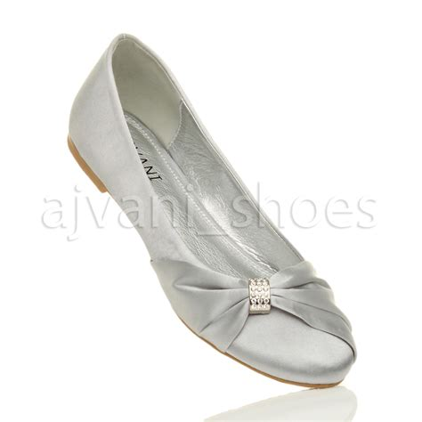 ballet flats shoes womens wedding bridal evening ballerina ballet
