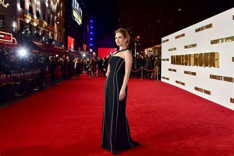 darkest hour premiere lily james quot darkest hour quot premiere in london