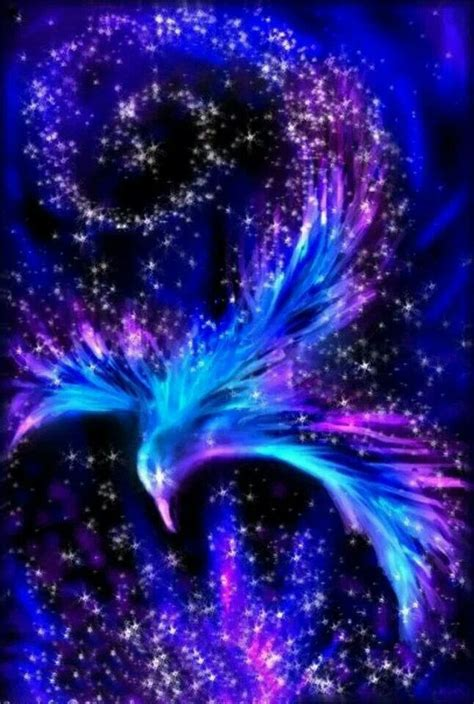 blue phoenix rising fantasy star phoenix wallpaper