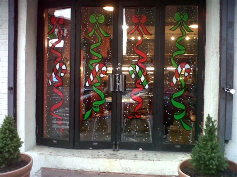 window painting for christmas windows on the edge of harlem 110th painting from