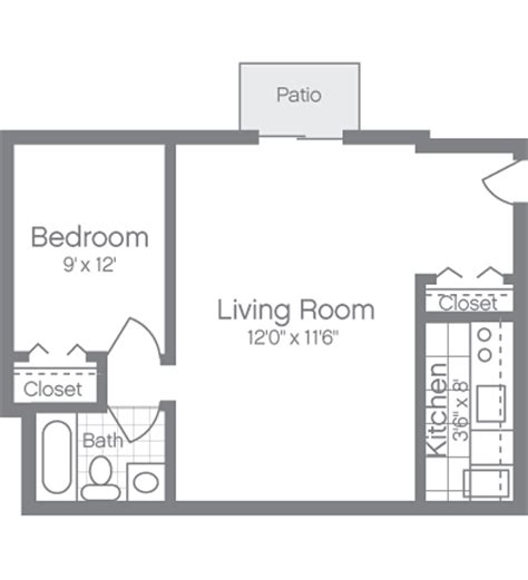 junior one bedroom apartment floor plans peachtree of mclean