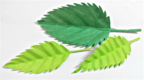 Paper Leaf Craft - paper leaf leaves diy design craft tutorial
