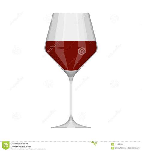 Bicchieri Da Bianco E Rosso Bicchiere Di Con Rosso Isolato Su Fondo Bianco