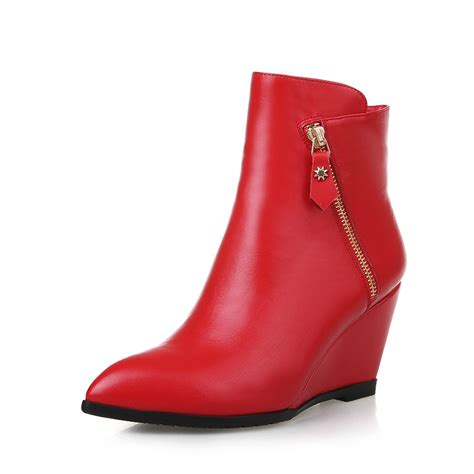 2015 fashion genuine leather ankle boots high heels