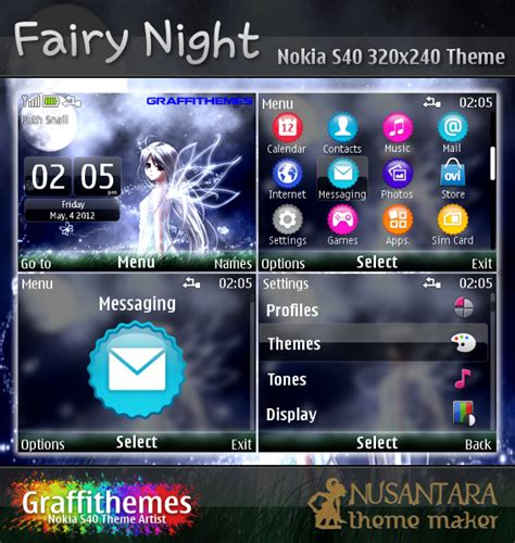 nokia c3 fairy tail themes nokia s40 theme fairy night for c3 00 x2 01 200 201