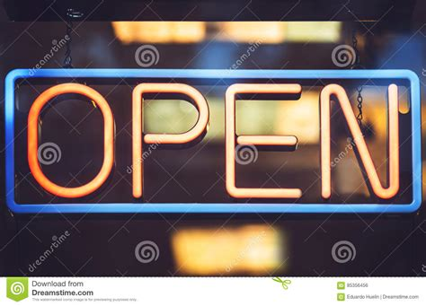 light up open closed sign up light sign stock photo image 85356456