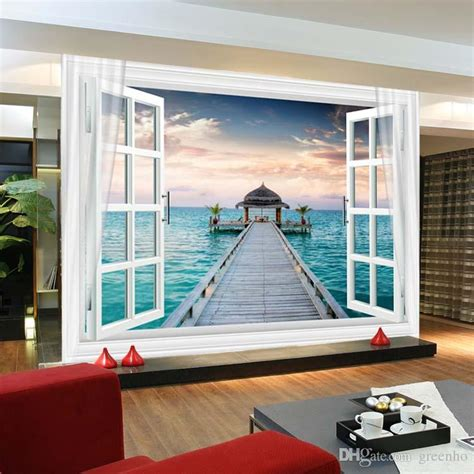 window  maldives large ocean view wall stickers art