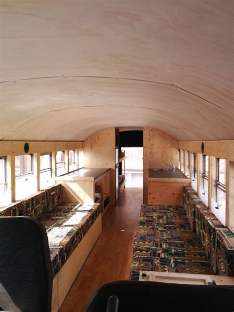 School Conversion Interior by 6 Australian Friends Made A Skoolie For An Epic Us Road Trip