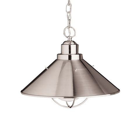 seaside 16 quot outdoor hanging pendant in brushed nickel
