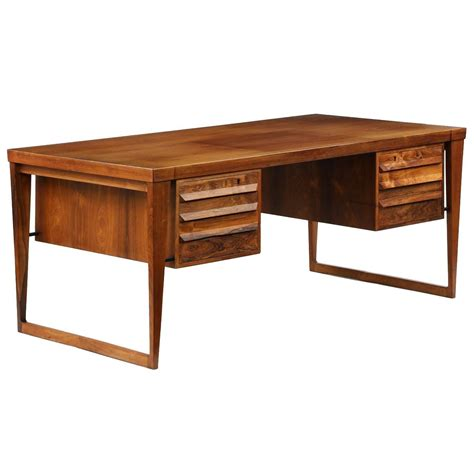 mid century modern teakwood partners desk at 1stdibs