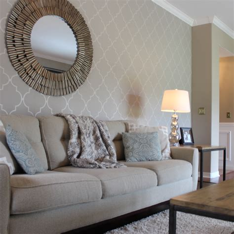 Accent Wall Ideas For Living Room With Wallpaper   Living Room