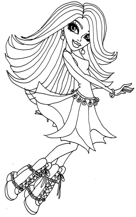 monster high spectra coloring pages color monster high az coloring pages