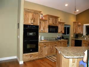 river custom cabinets rustic hickory cabinets