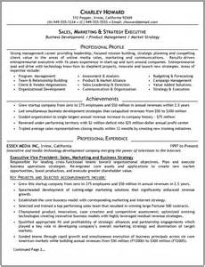 Executive resume samples template executive resume template charley