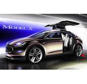 The Model X Concept Is An All Electric Crossover That Borrows Much Of