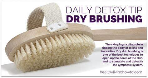 Brushing Detox Symptoms by Daily Detox Tip Skin Brushing Healthy Living How To