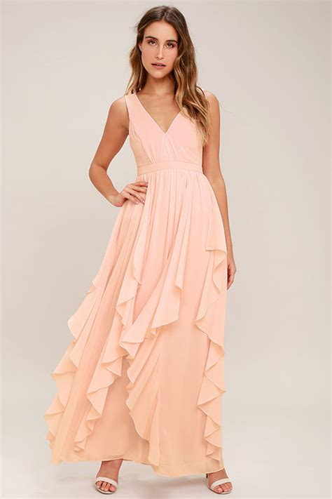 8 Pretty Blush Coloured Clothes by Lovely Blush Pink Dress Maxi Dress Bridesmaid Dress